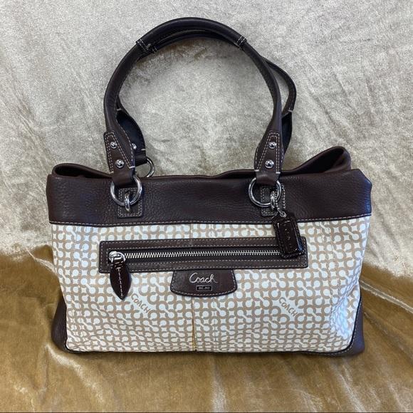 Coach Handbags - COACH COATED CANVAS SIGNATURE SATCHEL